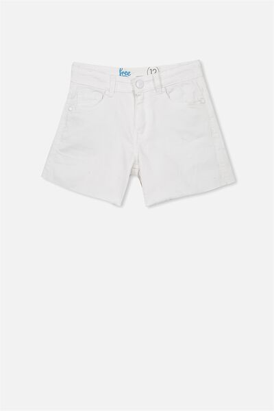 Leni Denim Short, WHITE (2)