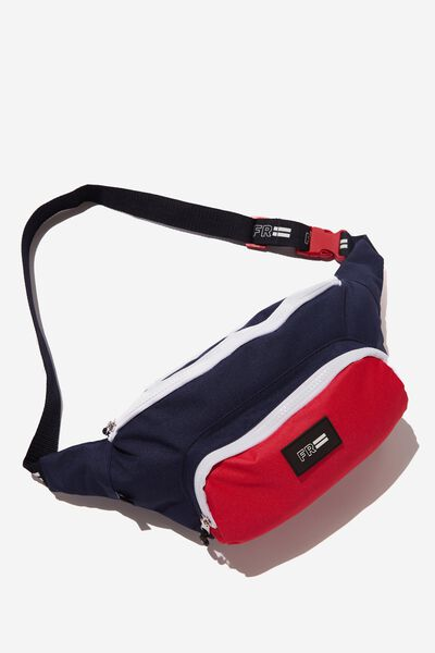 Crossbody Sports Bag, PEACOAT/RACING RED