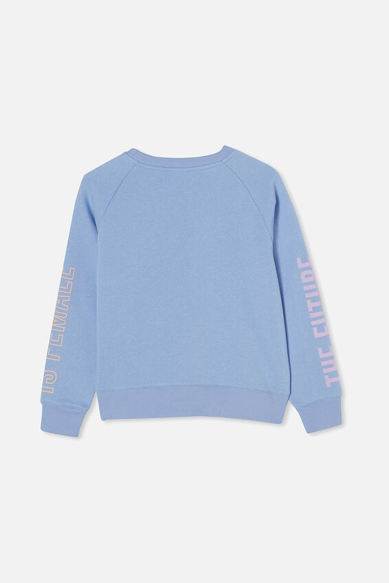 Boxy Crew Neck Jumper, DUSK BLUE/ FUTURE IS FEMALE