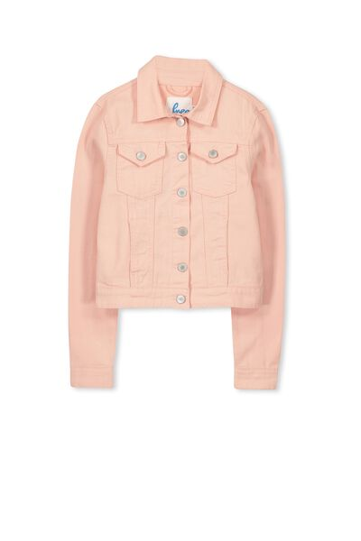 Daisy Denim Jacket, SEA PINK