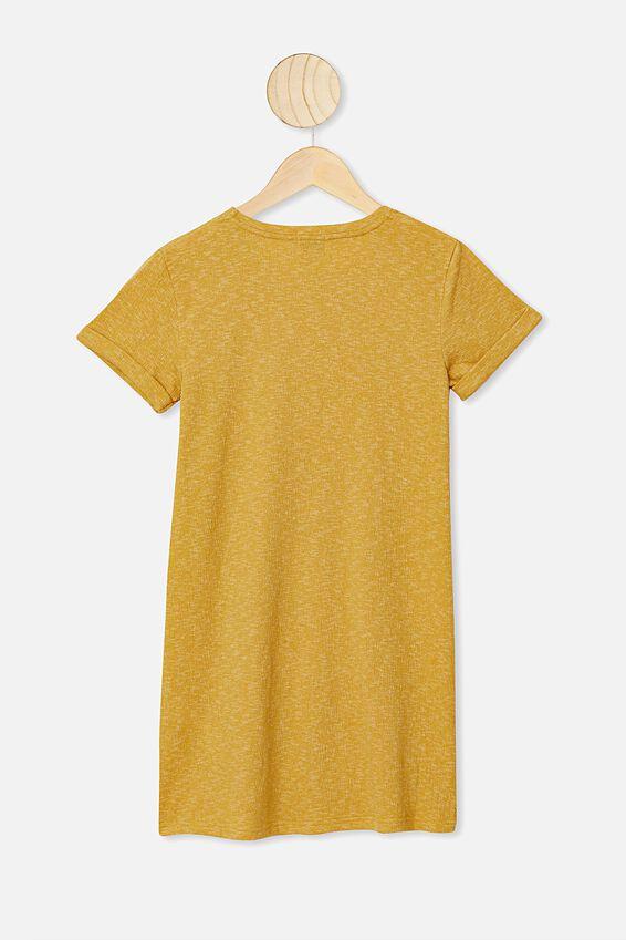 Toni Tshirt Dress, HONEY GOLD TEXTURE