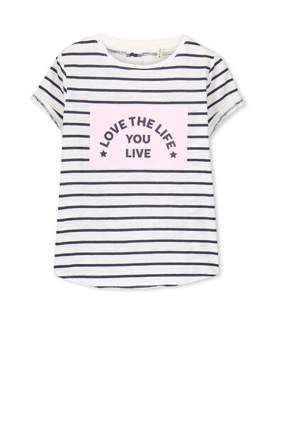 Ellie Tee, VANILLA STRIPE/LOVE YOUR LIFE