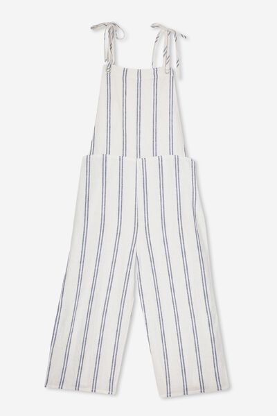 Dahlia Culotte Dungaree, WHITE/DOUBLE NAVY