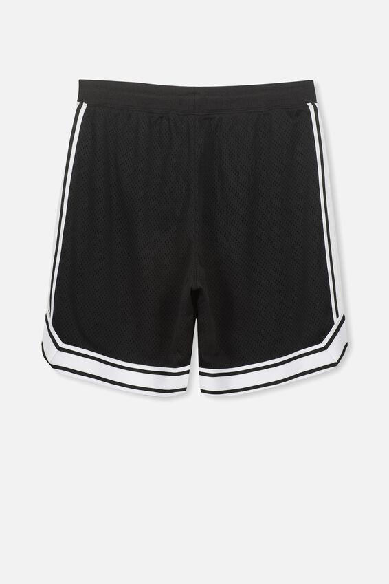 Basketball Short, BLACK/WHITE TAPE