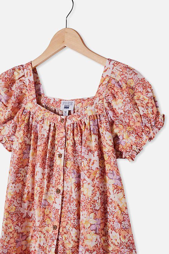Gracie Short Sleeve Dress, COASTAL FLORAL