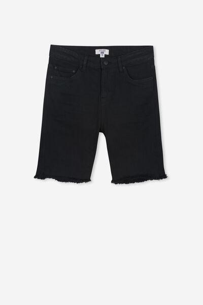 Classic Denim Short, BLACK