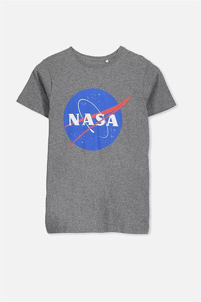 Louis Licence Tee, MID GREY MARLE/NASA LOGO