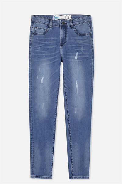 Slim Leg Jean, PACIFIC INDIGO RIP & REPAIR