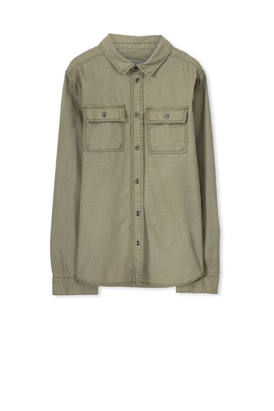 Maxwell Ls Shirt, WASHED TAUPE