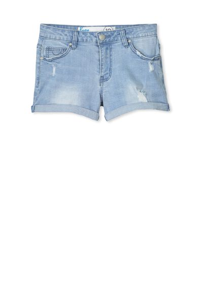 Leni Denim Short, SKYWAY BLUE