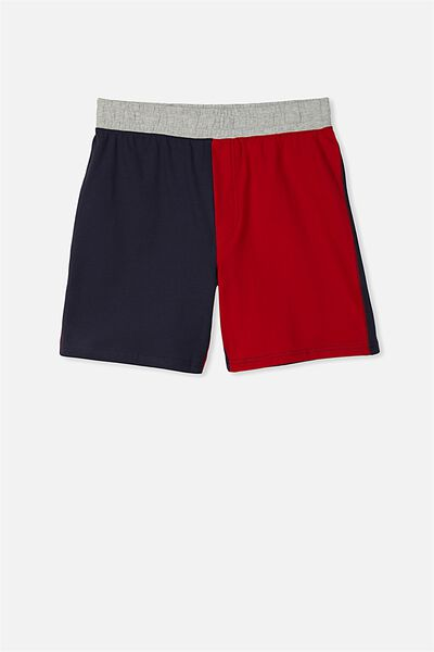 Jarvis Sleep Short, WASHED NAVY/RICH RED PANELS