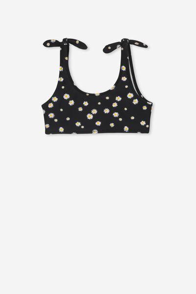 Tropic Bikini Top, BLACK/DAISY