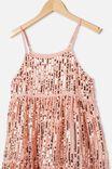 Georgia Dress Up Dress, DUSTY PINK/GOLD SPARKLE