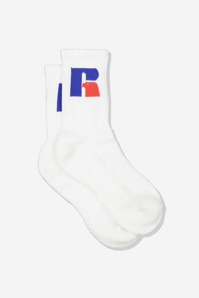 Russell Socks, LCN RUS/WHITE