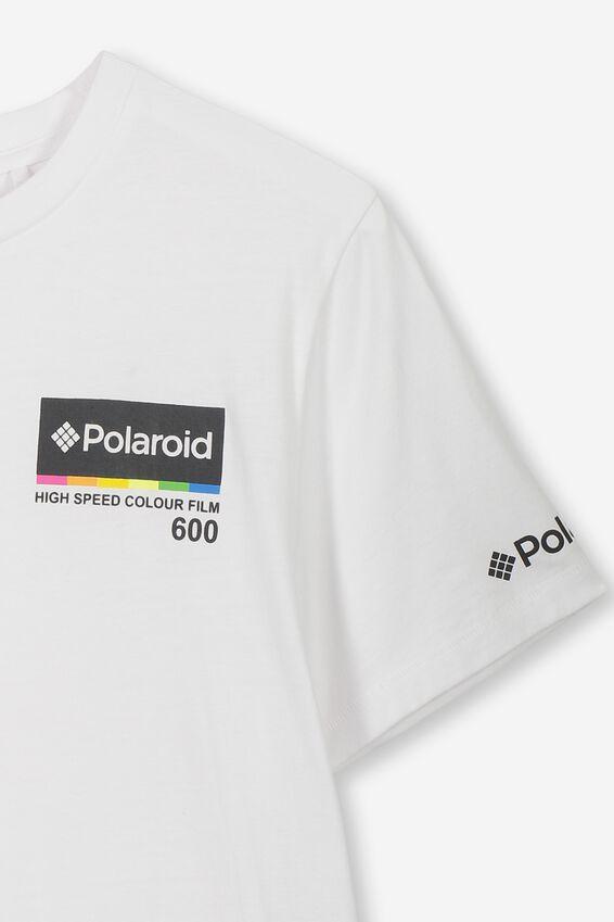 Boys License Short Sleeve Tee, LCN POL/WHITE POLAROID