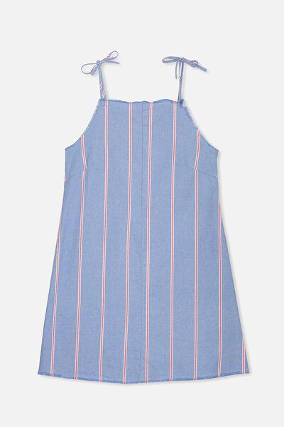Monica Dress, CHAMBRAY/STRIPE