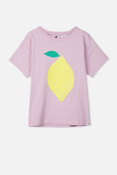 Millie Sleep Tee, LILAC SORBET/LEMON