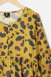 Kip&Co Teen Long Sleeve Dress, LCN KIP/LEOPARD