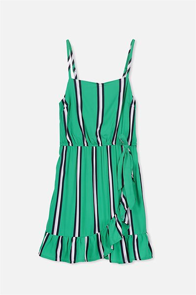 Olivia Dress, BASIL STRIPE