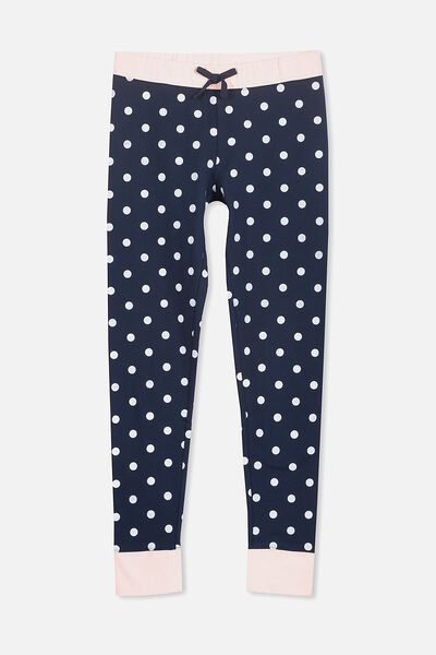 Zoe Sleep Pant, OBRIEN BLUE/POLKA DOT