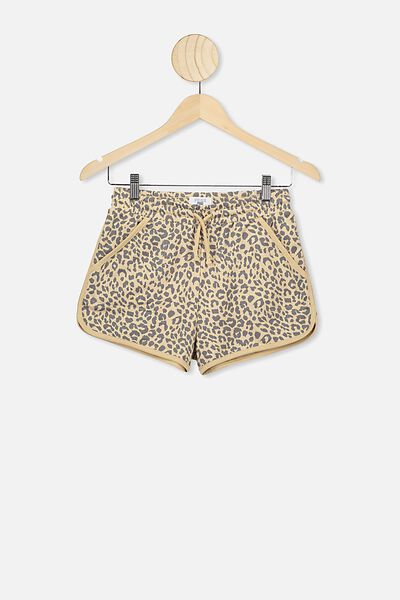 Nora Knit Short, SEMOLINA/ANIMAL