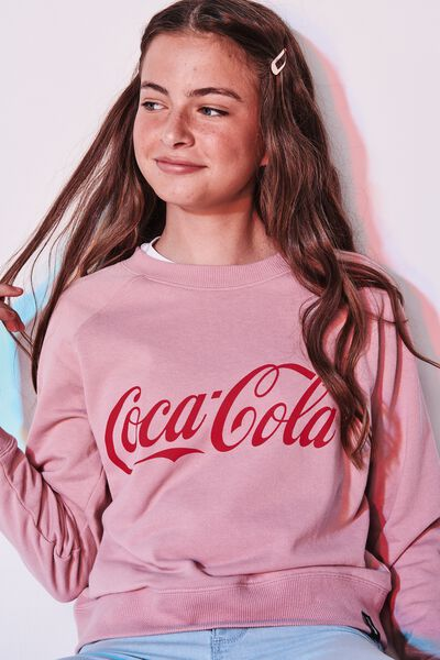 cd1d4a4bc8 Girls License Boxy Crew, LCN CC/DUSTY ROSE/COKE