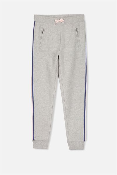 Tori Tape Trackpant, GREY MARLE/RAINBOW TAPE