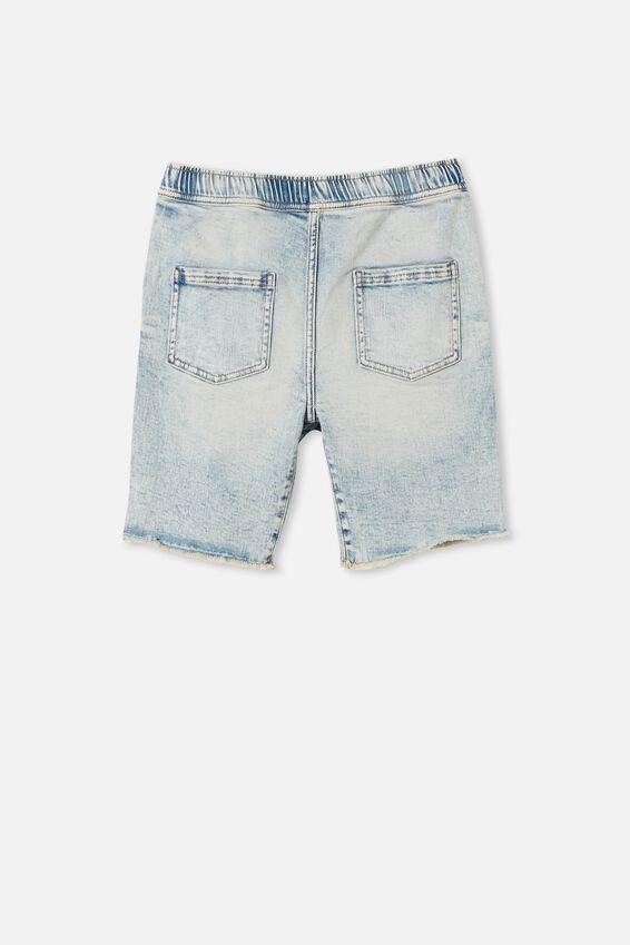 Boys Street Slouch Short, UTAH LT BLUE WASH