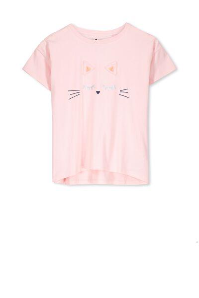 Millie Tee, PINK MAGNOLIA/CAT FACE