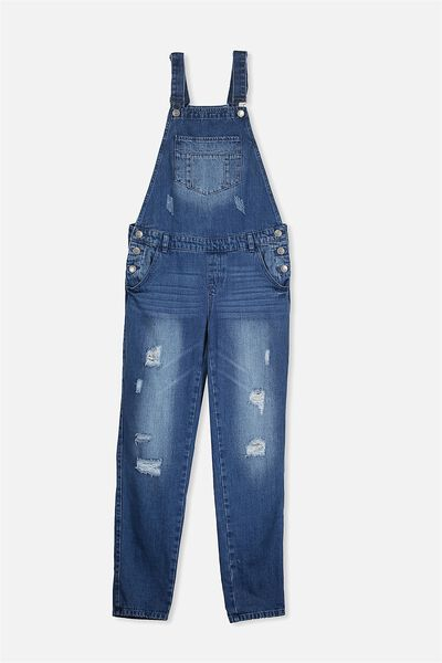 Angie Denim Dungaree, RICH MID INDIGO