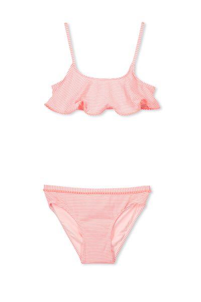 Flo Bikini, NEON LOBSTER STRIPE