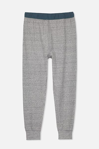 James Sleep Pant, NEP GREY MARLE/DEEP JADE