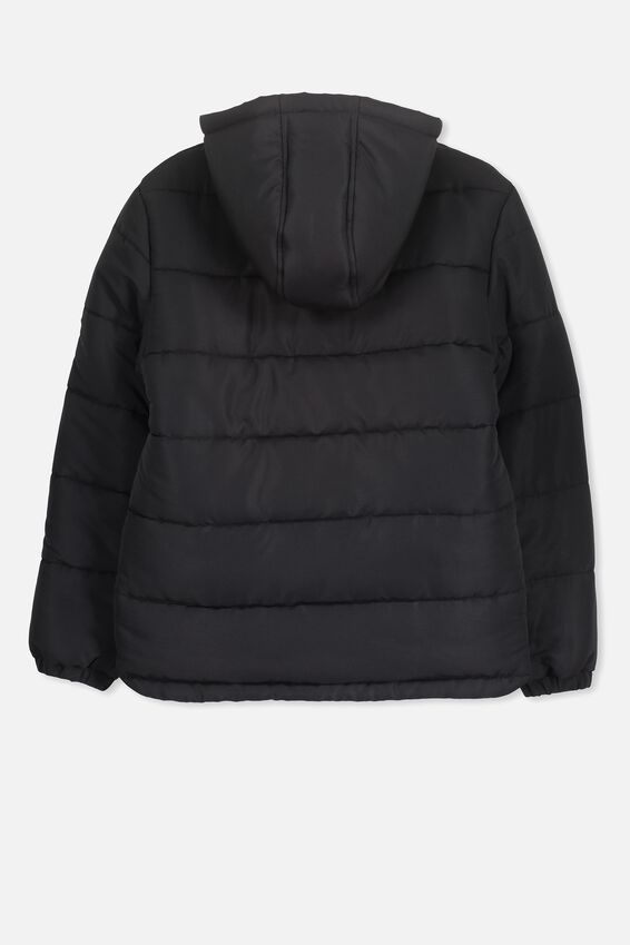 Alpine Puffer Jacket, BLACK