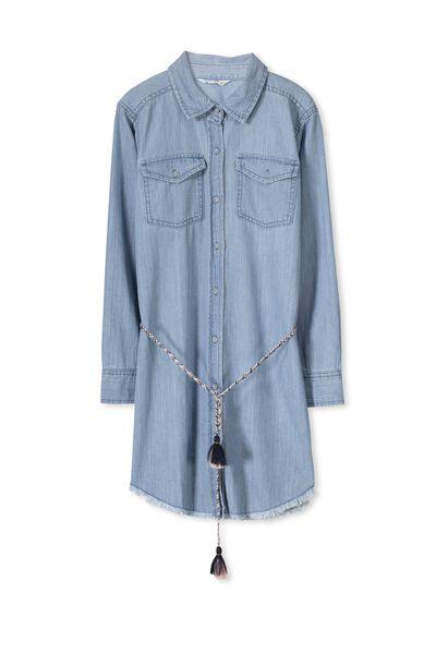 Liana Denim Dress, CHAMBRAY BLUE