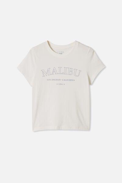 Girls Classic Ss Tee, VANILLA MALIBU