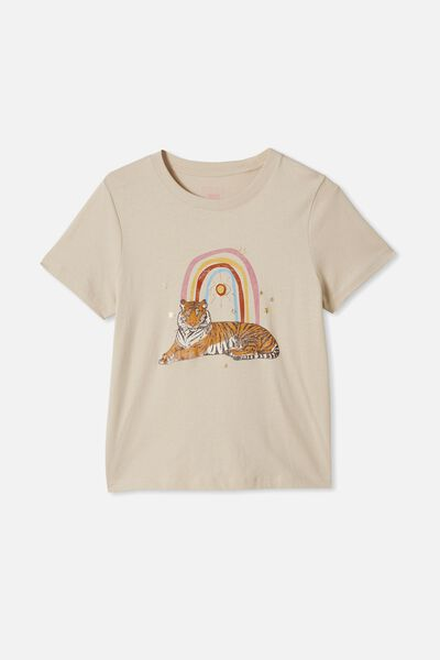 Girls Classic Ss Tee, RAINY DAY/EYE OF THE TIGER