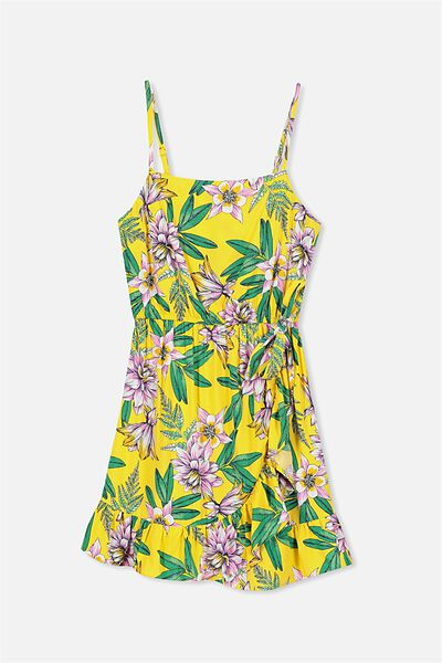 Olivia Dress, YELLOW FLORAL