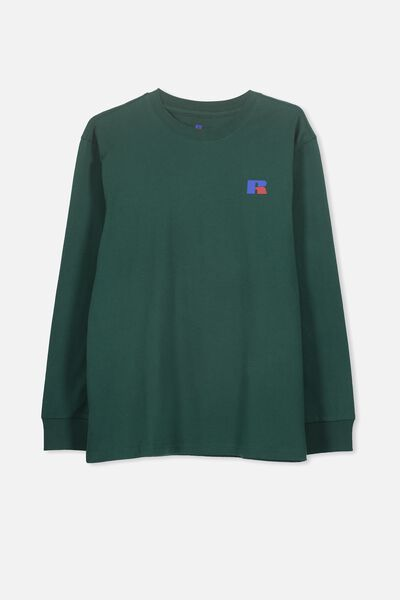 Russell Long Sleeve Tee, LCN RUS/RICH GREEN