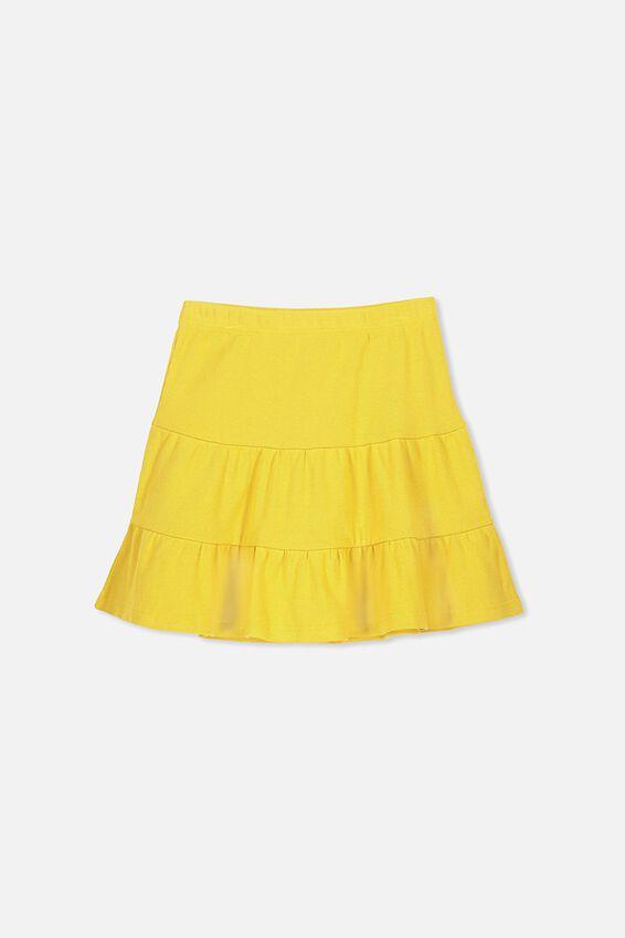 Knit Peplem Skirt, GOLD RUSH