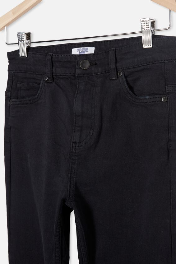 Slim Leg Jean, BLACK DENIM