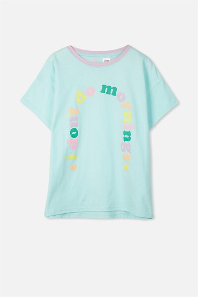 Millie Sleep Tee, AQUA TINT/MORNINGS