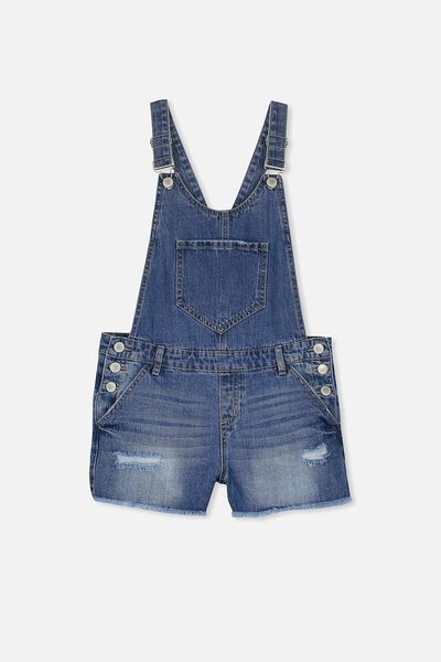 Dixie Denim Shortall, MID BLUE
