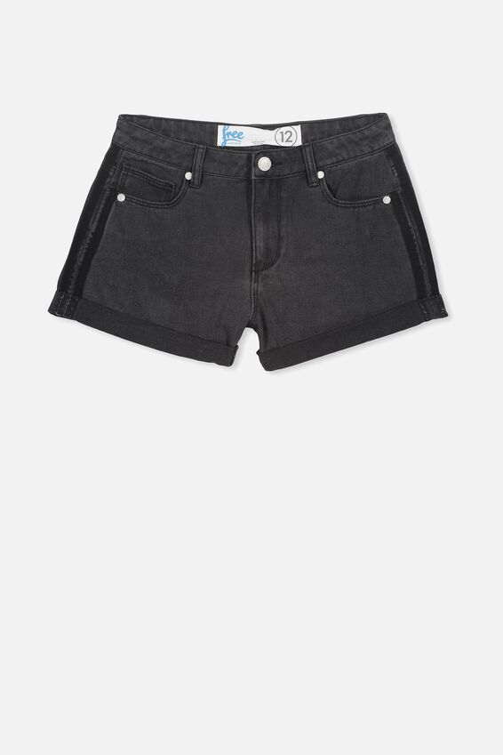 Saturday Denim Short, WASHED BLACK