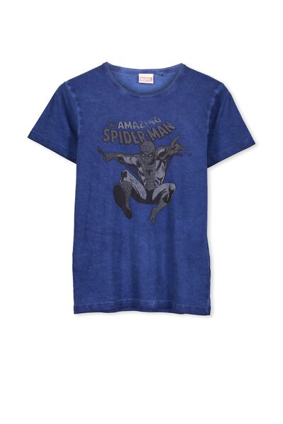 Louis Licence Tee, CAPTAINS BLUE/SPIDERMAN BW
