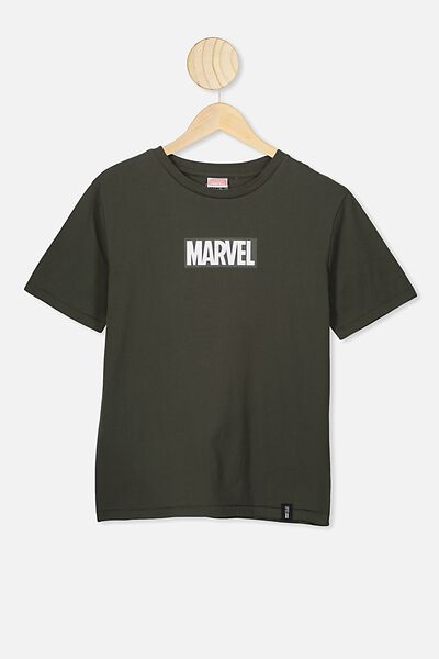 Ash Boys License Tees, LCN MAR KHAKI MARVEL