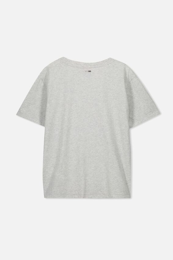 Boys License Short Sleeve Tee, LCN CC GREY MARLE COKE
