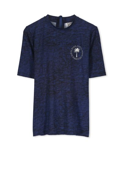 Sam Short Sleeve Rashie, CAPTAINS BLUE/VENICE BEACH
