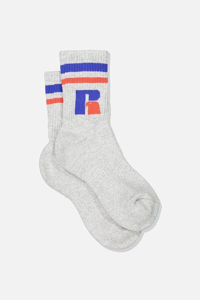 Russell Socks, LCN RUS/GREY MARLE