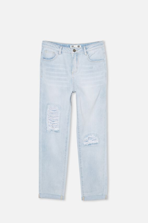 Indiana Slouch Jean, BLEACH WASH/RIPS