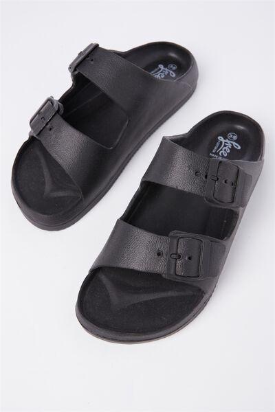 Free Twin Strap Sandal, BLACK